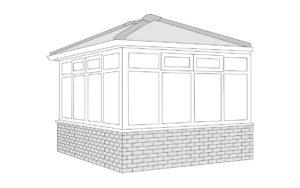 edwardian Conservatory roof style