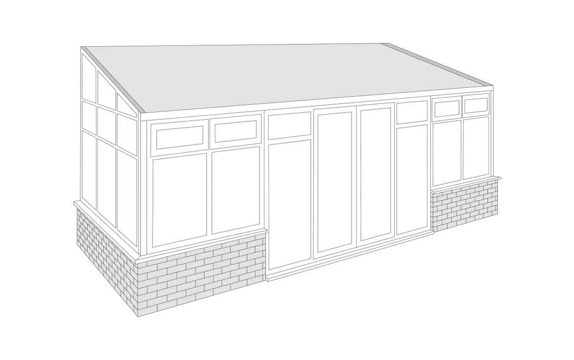 lean to Conservatory roof style