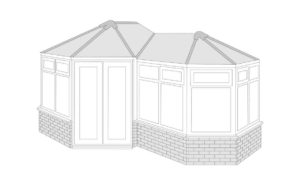 p shaped Conservatory roof style